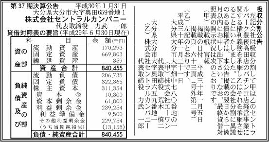 吸収分割公示20180201