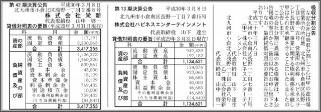 吸収分割公示20180308