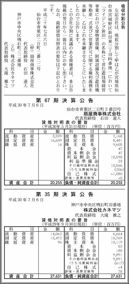 吸収分割公示20180706_2