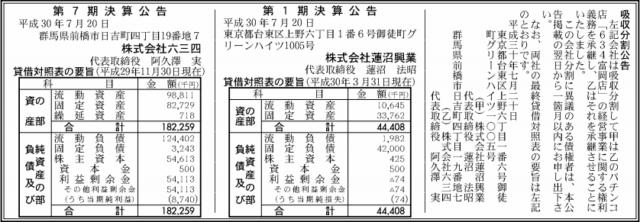 吸収分割公示20180720
