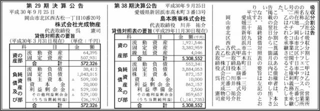 吸収分割公示20180925