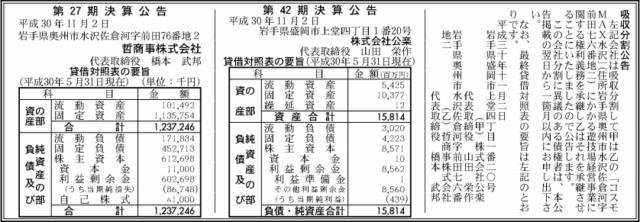 吸収分割公示20181102