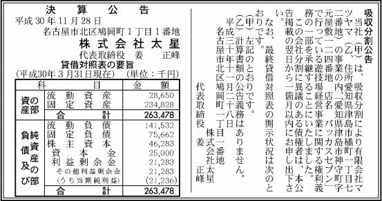 吸収分割公示20181128