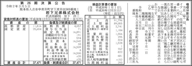吸収分割公示20200305