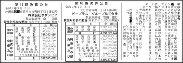 吸収分割公示20200716